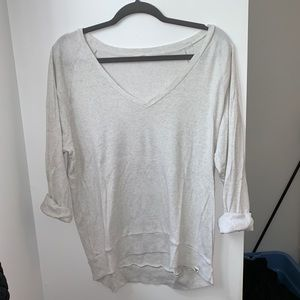 EUC Aritzia TNA Pomona Top in Heathered White